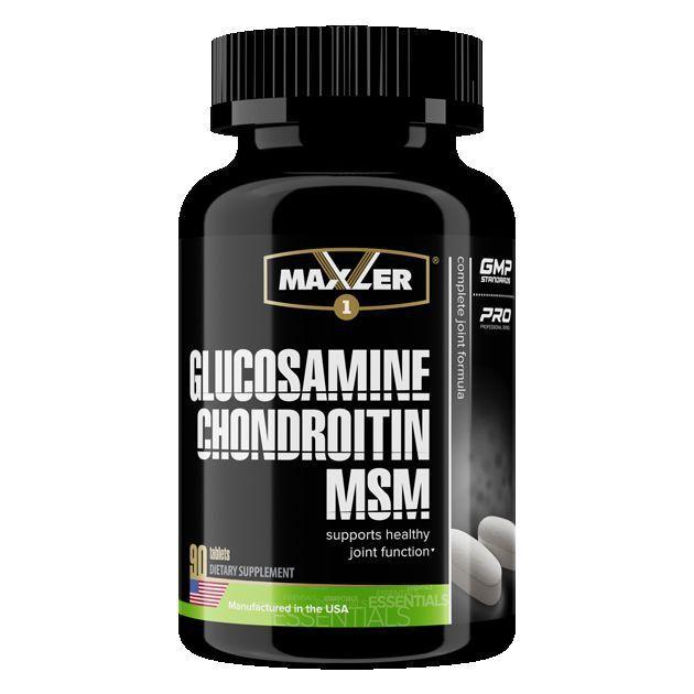 Для связок и суставов MAXLER Glucosamine-Chondroitine-MSM - 90 таблеток