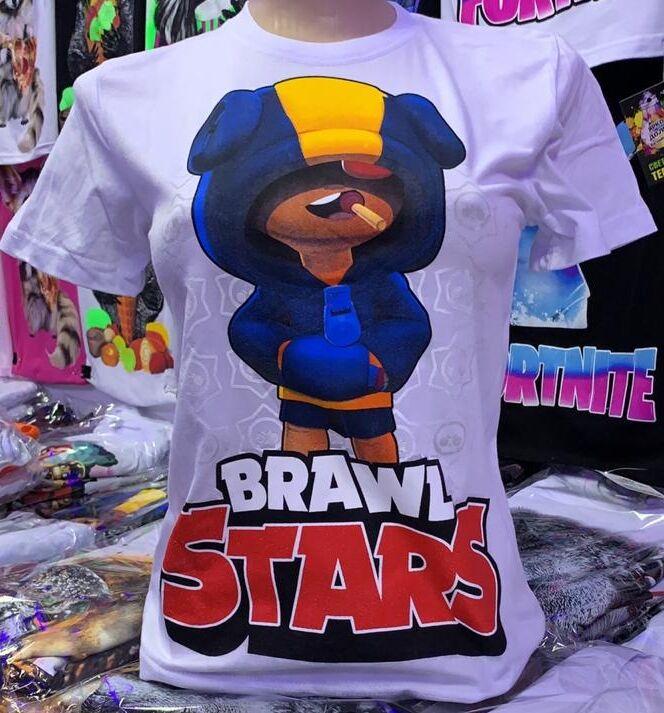 Светящаяся футболка «Brawl stars» Чупс белая