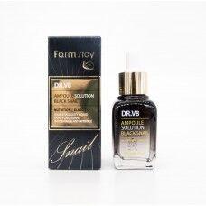 Farm Stay DR.V8 Ampoule Solution Black Snail - Ампула с экстрактом муцина черной улитки 30мл