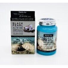 Farm Stay Black Pearl All-in-One Ampoule - Осветляющая ампула с чёрным жемчугом 250мл