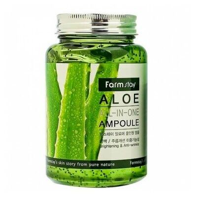 Farm Stay Aloe All-in-One Ampoule - Многофункциональная ампульная сыворотка с экстрактом алоэ 250мл