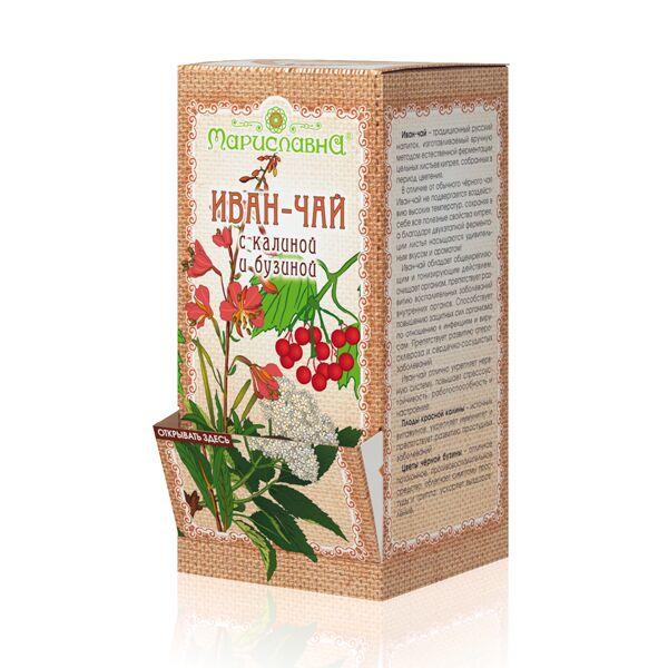 «Иван-чай с калиной и бузиной» в фильтр-пакетах