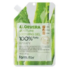 Farm Stay Moisture Soothing Gel Aloe Vera - Увлажняющий успокаивающий гель с экстрактом алоэ вера 100мл