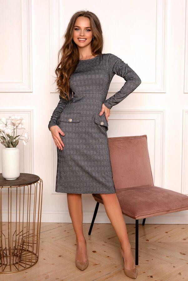 Платье Базовое платье с мелким геометрическим рисунком. Модель смотрится  эффектно. Скрывает недостатки фигуры, только выигрышно подчеркнет достоинства! Идеальная посадка платья. Супер качество ! Ткан