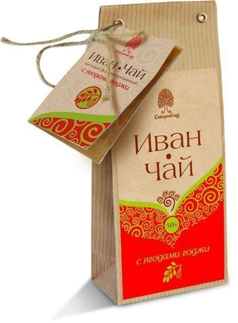 """Напиток чайный """"Иван-чай"""" с ягодами годжи. 50 г"""