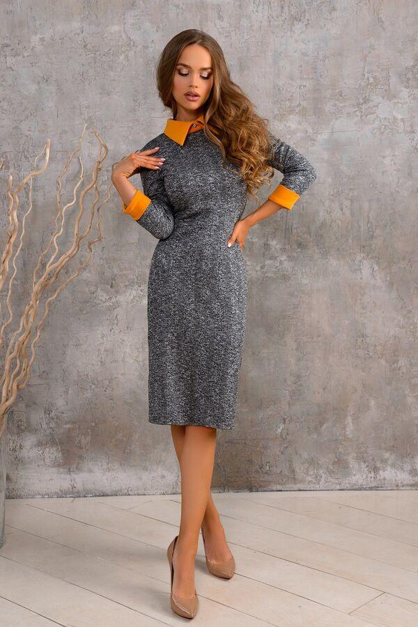 Платье Красивое платье из текстильного полотна с добавлением легкой шерсти. Сзади замок 50 см. Воротничок из легкой ткани. Идеальная посадка по фигуре