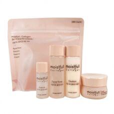 Etude House Moistfull-Collagen Skin Care Kit 4 Kinds - Мини-набор на основе коллагена из 4 предметов