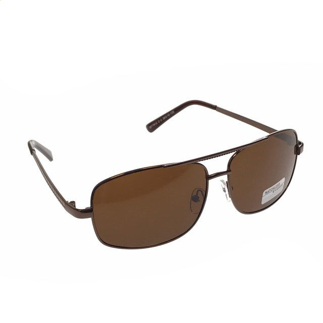 Классические мужские очки Hrom кофейного цвета.