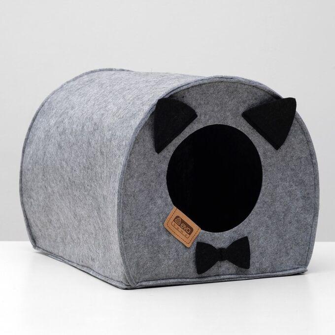 "Домик для животных из войлока ""Будка Джентельмена"", 33 х 33 х 45 см"