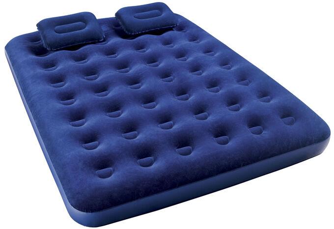 Надувной матрас Bestway Матрас надувной, с ручным насосом и 2 подушками, 203 х 152 х 22 см🌊