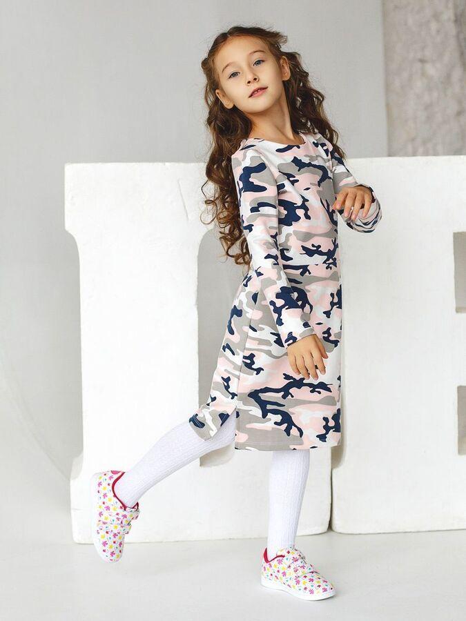 Платье Алла хаки розовый