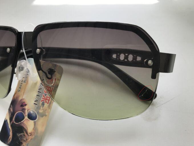 Солнцезащитные очки унисекс с зеленоват. стеклами УЦЕНКА