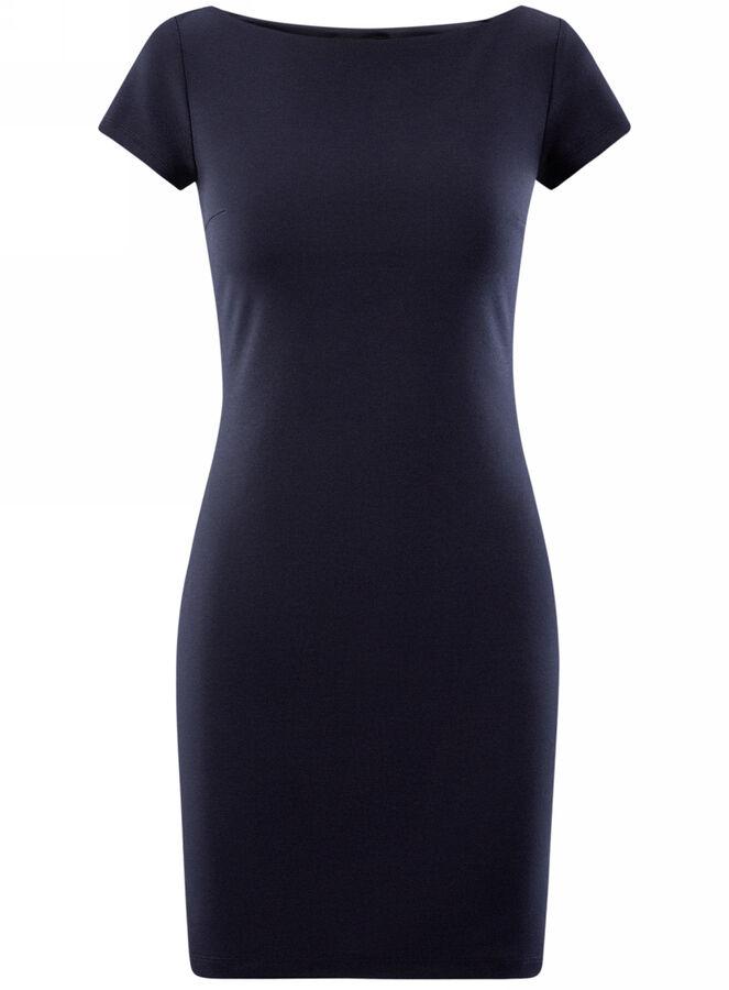 Платье с вырезом-лодочкой Oodji