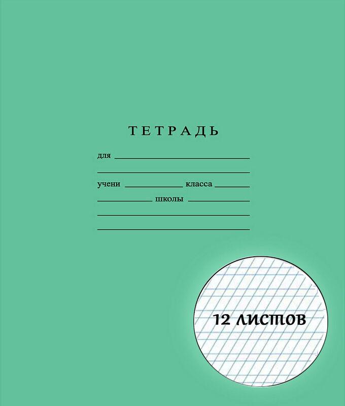 Тетрадь школьная 12 листов ЧАСТАЯ КОСАЯ ЛИНИЯ