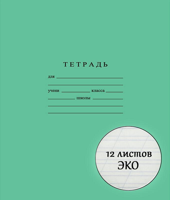Школьная тетрадь ЭКО 12 листов КОСАЯ ЛИНИЯ