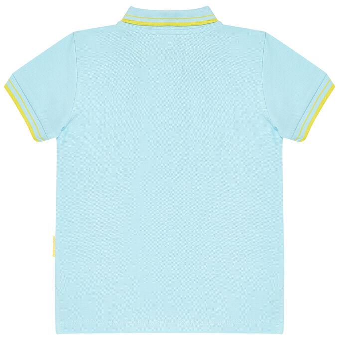 Джемпер-поло для мальчика, голубой