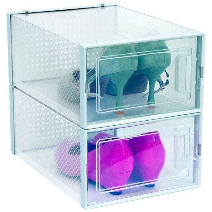 Набор коробок для хранения обуви 2шт. 33,4х23х14см 3L-901-2 ВЭД