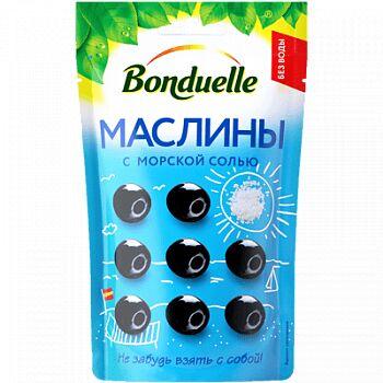 Bonduelle (Бондюэль) Маслины с морской солью в мягкой упаковке (215 мл)