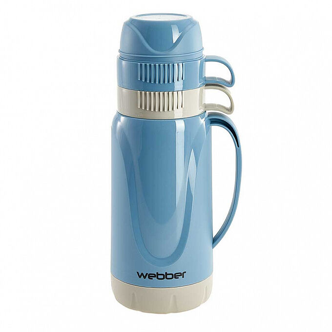 Термос 1 л Webber 24008/9S синий с серым