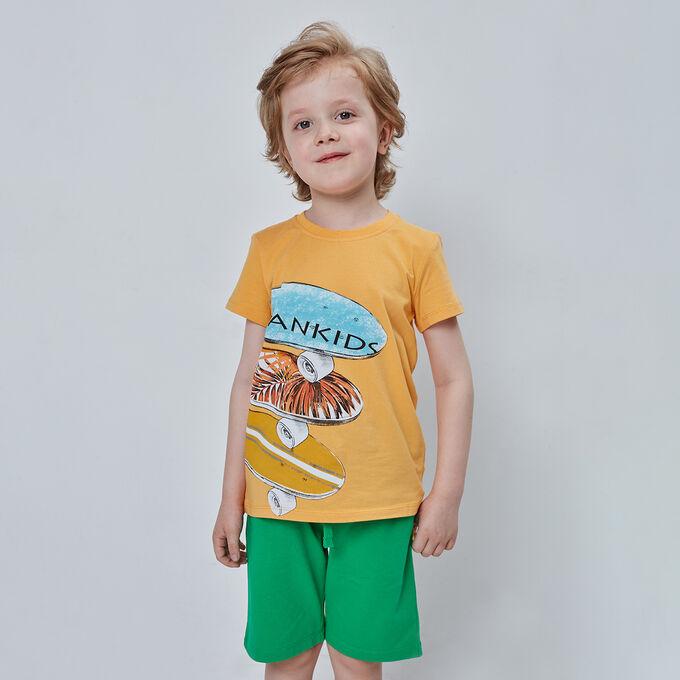 Футболка для мальчика, жёлтый