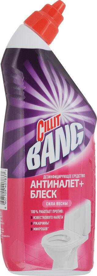 CILLIT BANG (СИЛИТ БЭНГ) Средство для дезинфекции WC Анти-налет+Блеск, Сила весны, 750 мл, (*8/8149767)