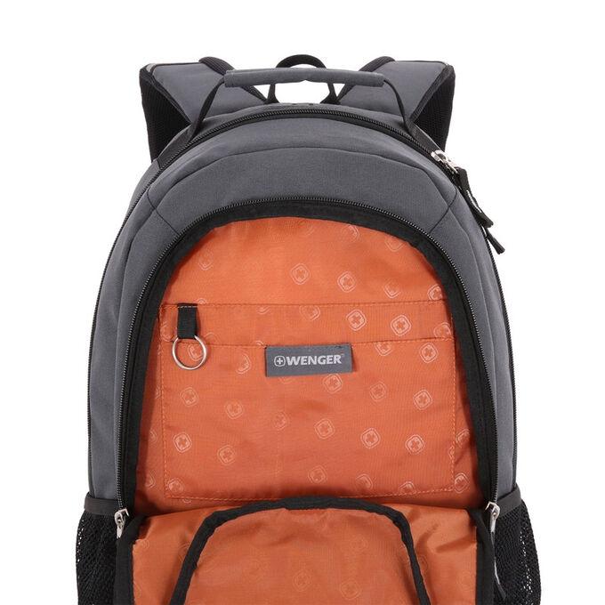 Рюкзак WENGER, серый/чёрный со светоотражателями 600D 32х14х45см ...
