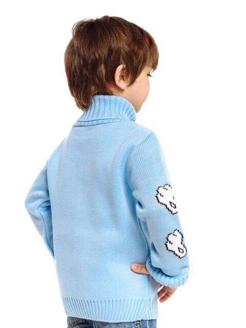 Свитер Количество в упаковке: 1; Артикул: ТРИС-845/1; Цвет: Голубой; Ткань: Пряжа; Состав: 50% шерсть,50% акрил; Цвет: Бирюзовый   Голубой Свитер детский с жаккардовым рисунком