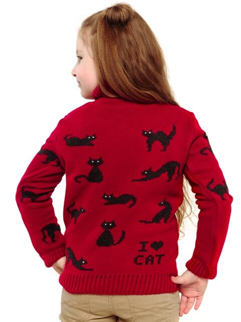 Свитер Количество в упаковке: 1; Артикул: ТРИС-856/; Цвет: Красный; Ткань: Пряжа; Состав: 50% шерсть,50% акрил; Цвет: Красный Свитер детский с жаккардовым рисунком