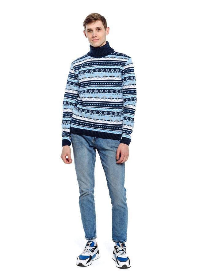 Свитер Количество в упаковке: 1; Артикул: ТРИС-776/; Цвет: Синий; Ткань: Пряжа; Состав: 50% шерсть,50% акрил; Цвет: Красный | Синий Свитер мужской