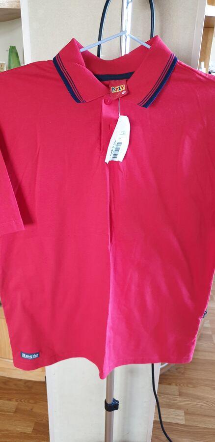 """Рубашка """"поло"""" на мальчика ростом 140-146 см, цвет красный, фото во Владивостоке"""