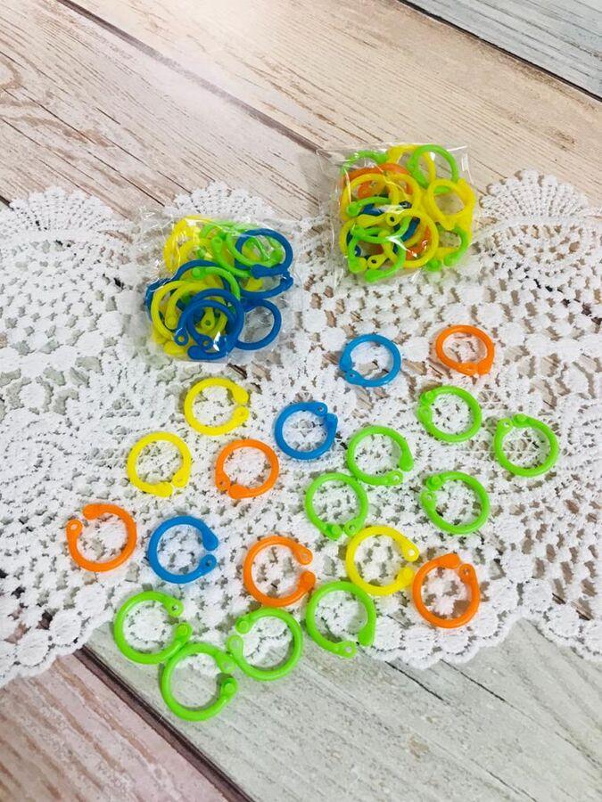 Маркеры для вязания круглые d17мм набор 20шт