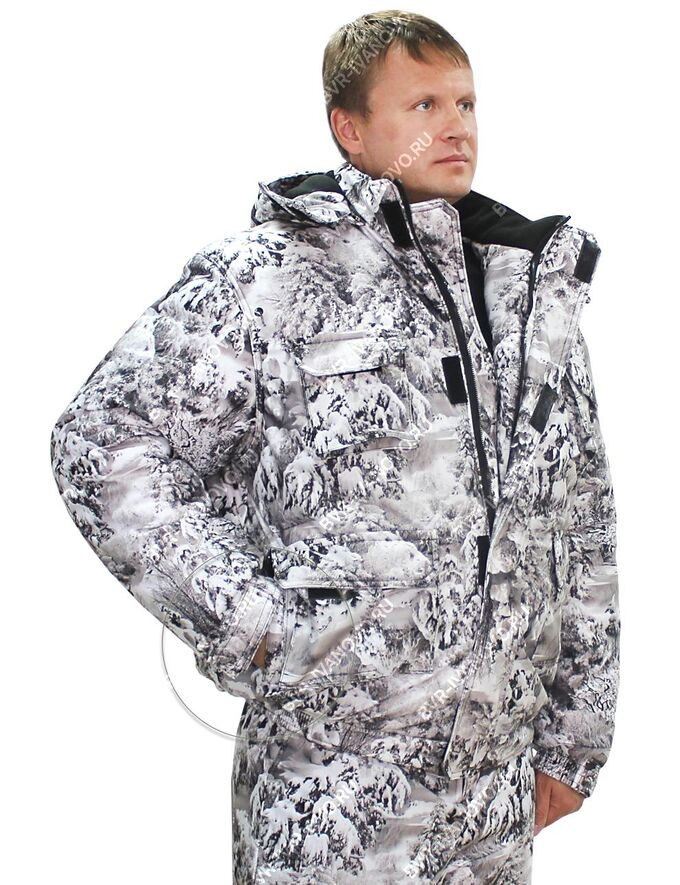 Костюм зимний HUNTER тк.Алова цв.Белый Лес 2