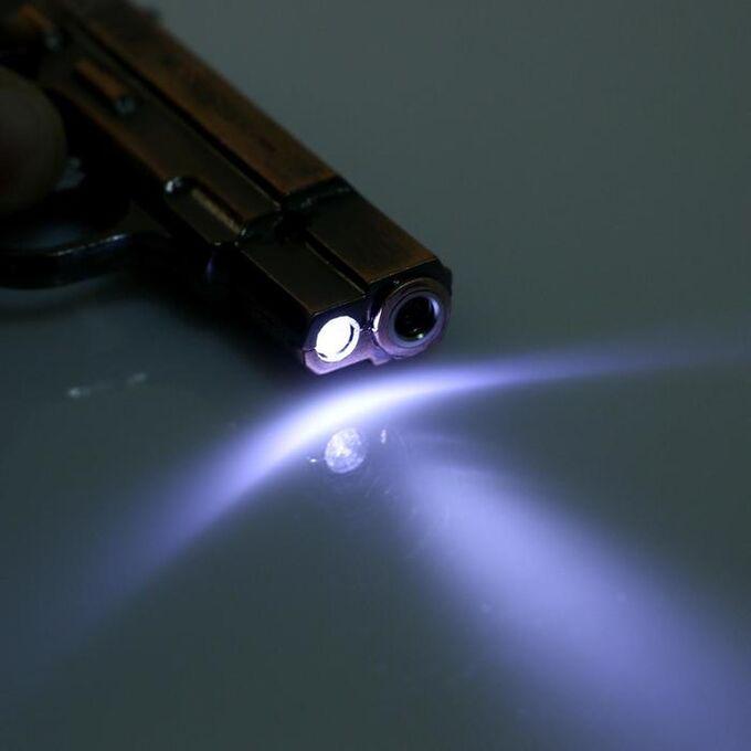 "Зажигалка с фонариком ""Пистолет"", пьезо, газ"