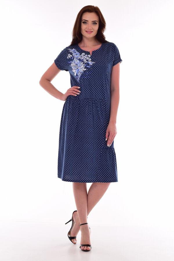 Платье женское 4-69г (темно-синий)