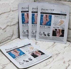 Пиллинговая маска для ног в форме удобных носочков Boon7  Peeling Out Pure Foot Care Pack