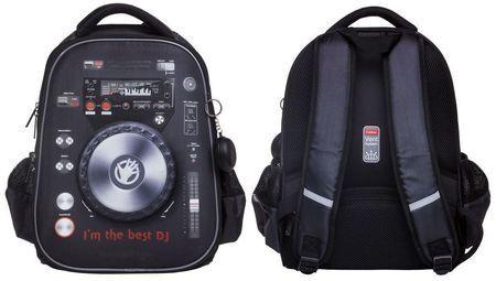 """Рюкзак школьный """"Ergonomic.light Best DJ"""" 38х29х15 см 2 отделения 2 кармана и 1 потайной на спинке (060840) 45045 Хатбер {Китай}"""
