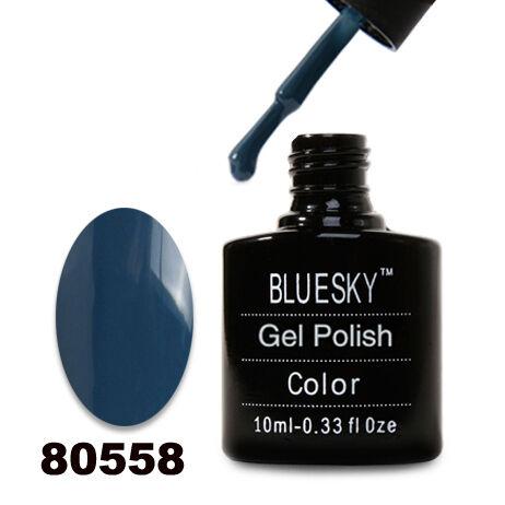 Гель лак Bluesky 80558-Темно-голубой,плотный