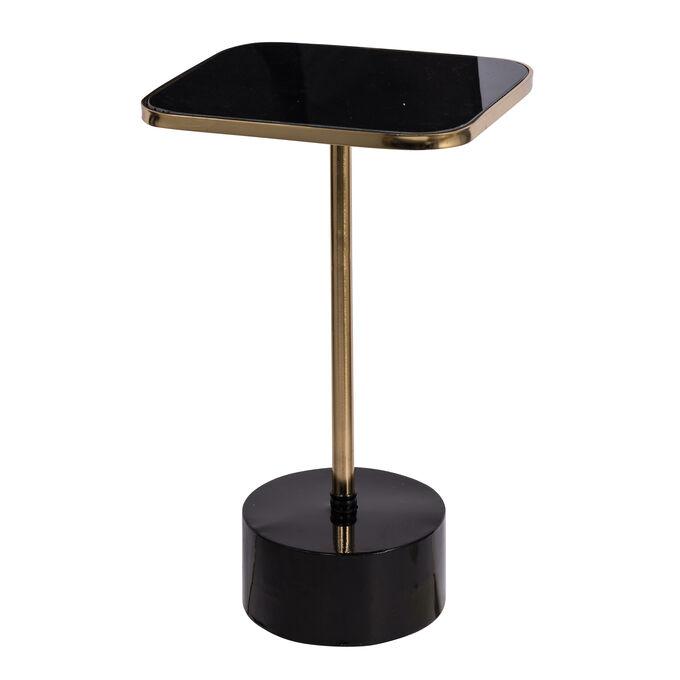 Стол 44131-DS Chic Gold&Black 58,2*32*27,9см стекло металл
