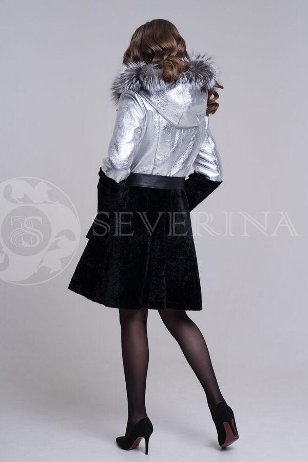 Дубленка Silver + лиса