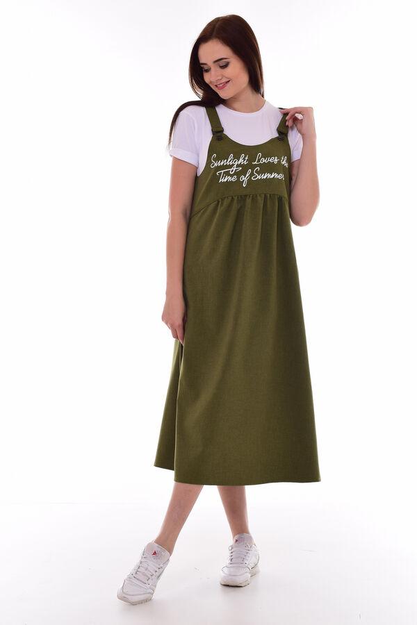 *Сарафан женский Ф-4-07д (оливковый)