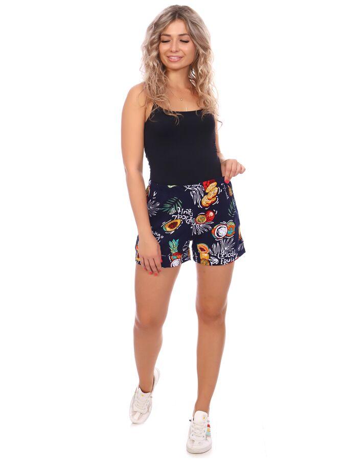 Шорты Шорты женские трикотажные с притачными манжетами. Изделие с двумя боковыми карманами с отрезным бочком с настрочной мешковиной. Вход в карман – подгибка. Пояс цельнокроеный. Идеальный вариант, к