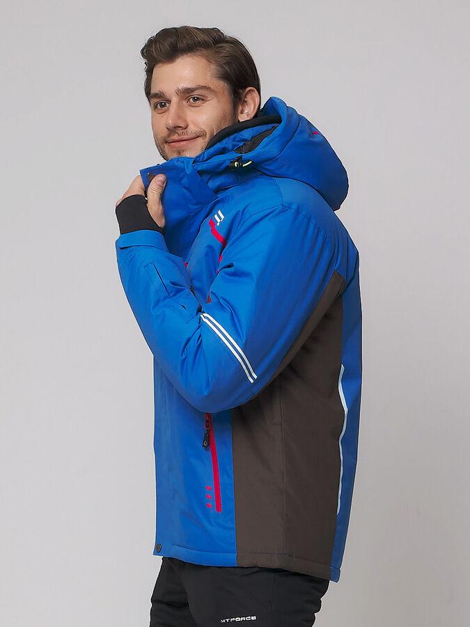 Мужская зимняя горнолыжная куртка MTFORCE голубого цвета 1971Gl