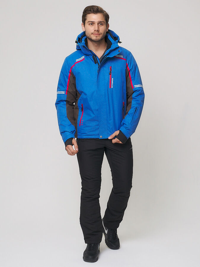 Мужской зимний костюм горнолыжный голубого цвета 01971Gl