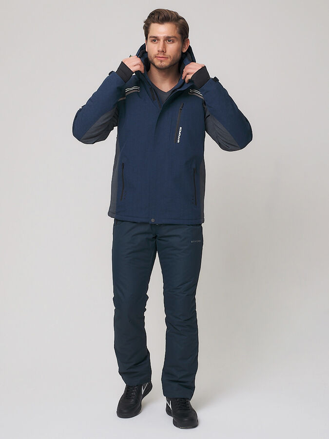 Мужская зимняя горнолыжная куртка MTFORCE темно-синего цвета 1971TS