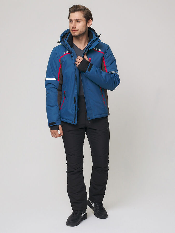 Мужская зимняя горнолыжная куртка MTFORCE синего цвета 1971-1S