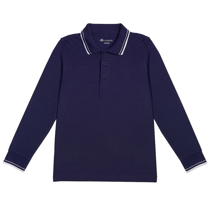 Джемпер-поло для мальчика, т.синий