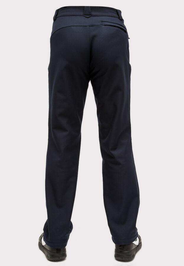 Мужские осенние весенние виндстопер из ткани softshell большого размера темно-синего цвета 1869TS