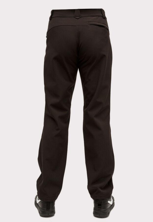 Мужские осенние весенние виндстопер из ткани softshell большого размера черного цвета 1869Ch