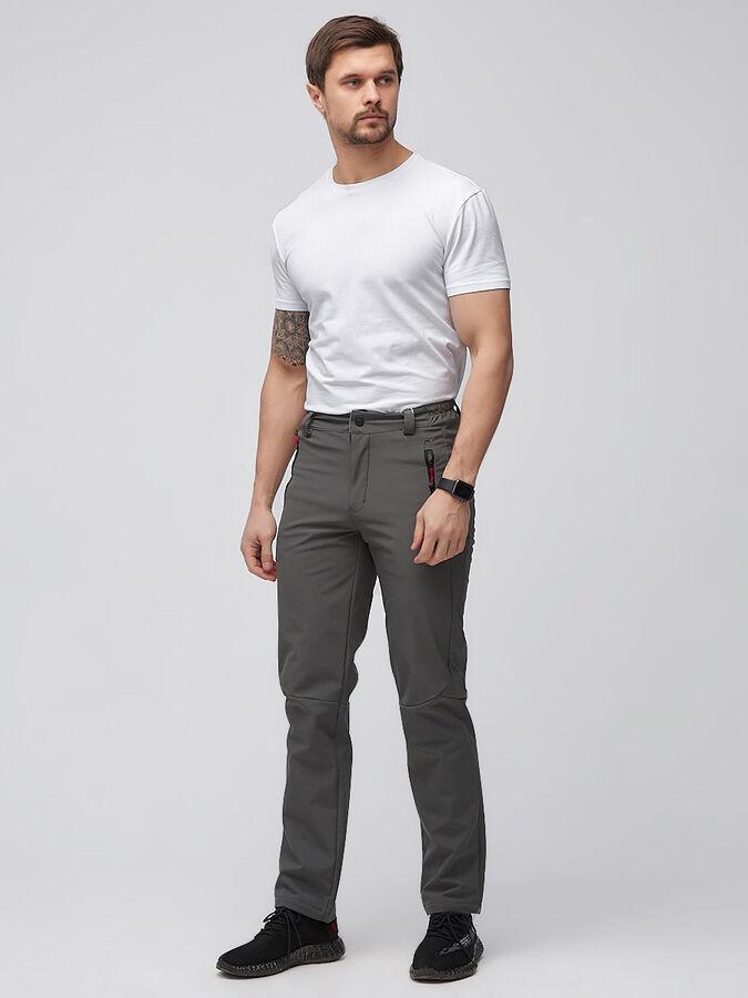 Мужские осенние весенние виндстопер серого цвета 19121Sr