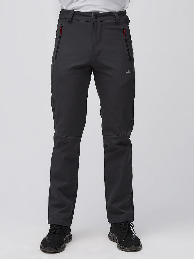 Мужские осенние весенние виндстопер темно-серого цвета 19121TC